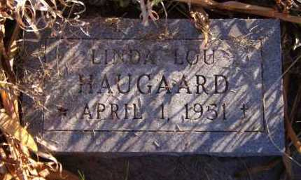 HAUGAARD, LINDA LOU - Moody County, South Dakota | LINDA LOU HAUGAARD - South Dakota Gravestone Photos