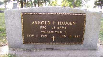 HAUGEN, ARNOLD H (BACK) - Moody County, South Dakota | ARNOLD H (BACK) HAUGEN - South Dakota Gravestone Photos