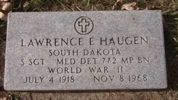 HAUGEN, LAWRENCE E  (MILITARY) - Moody County, South Dakota | LAWRENCE E  (MILITARY) HAUGEN - South Dakota Gravestone Photos