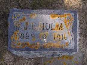 HOLM, J.E. - Moody County, South Dakota | J.E. HOLM - South Dakota Gravestone Photos