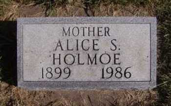 HOLMOE, ALICE S - Moody County, South Dakota | ALICE S HOLMOE - South Dakota Gravestone Photos