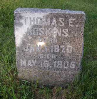 HOSKINS, THOMAS E - Moody County, South Dakota | THOMAS E HOSKINS - South Dakota Gravestone Photos