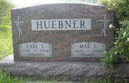 HUEBNER, EARL V. - Moody County, South Dakota | EARL V. HUEBNER - South Dakota Gravestone Photos