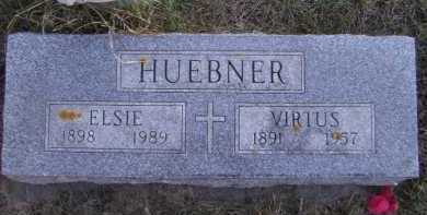 HUEBNER, ELSIE - Moody County, South Dakota | ELSIE HUEBNER - South Dakota Gravestone Photos