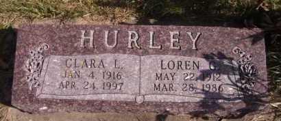 HURLEY, CLARA L - Moody County, South Dakota | CLARA L HURLEY - South Dakota Gravestone Photos
