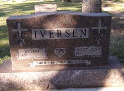 IVERSEN, SVEND - Moody County, South Dakota | SVEND IVERSEN - South Dakota Gravestone Photos