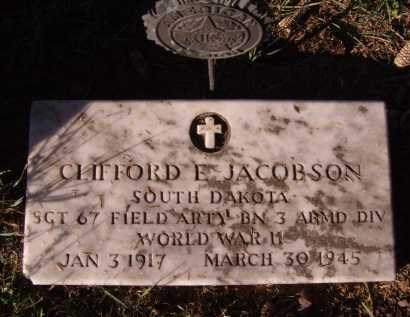 JACOBSON, CLIFFORD E - Moody County, South Dakota | CLIFFORD E JACOBSON - South Dakota Gravestone Photos