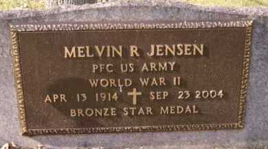 JENSEN, MELVIN R (MILITARY) - Moody County, South Dakota   MELVIN R (MILITARY) JENSEN - South Dakota Gravestone Photos
