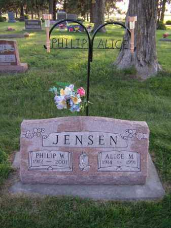 JENSEN, ALICE M - Moody County, South Dakota | ALICE M JENSEN - South Dakota Gravestone Photos