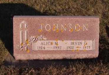 JOHNSON, IRVIN G - Moody County, South Dakota | IRVIN G JOHNSON - South Dakota Gravestone Photos