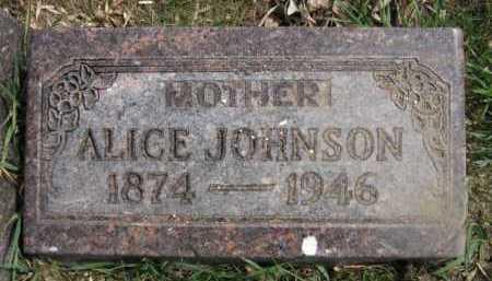 JOHNSON, ALICE - Moody County, South Dakota | ALICE JOHNSON - South Dakota Gravestone Photos