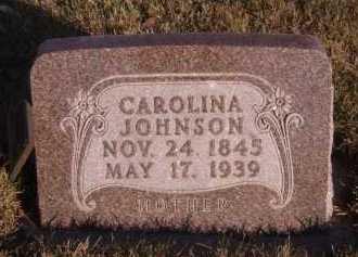JOHNSON, CAROLINA - Moody County, South Dakota | CAROLINA JOHNSON - South Dakota Gravestone Photos