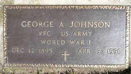 JOHNSON, GEORGE A. (WWI) - Moody County, South Dakota | GEORGE A. (WWI) JOHNSON - South Dakota Gravestone Photos