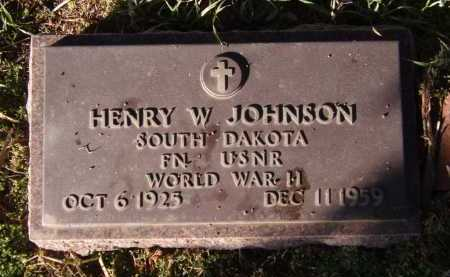 JOHNSON, HENRY W - Moody County, South Dakota | HENRY W JOHNSON - South Dakota Gravestone Photos