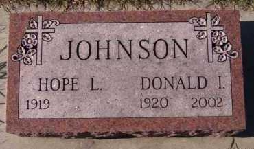 JOHNSON, DONALD I - Moody County, South Dakota | DONALD I JOHNSON - South Dakota Gravestone Photos