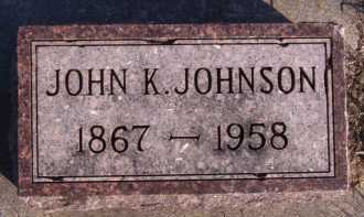 JOHNSON, JOHN K - Moody County, South Dakota | JOHN K JOHNSON - South Dakota Gravestone Photos
