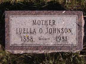 JOHNSON, LUELLA O - Moody County, South Dakota | LUELLA O JOHNSON - South Dakota Gravestone Photos
