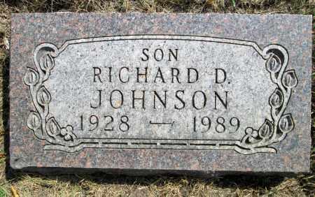 JOHNSON, RICHARD D. - Moody County, South Dakota | RICHARD D. JOHNSON - South Dakota Gravestone Photos