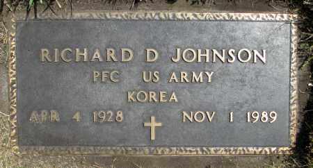JOHNSON, RICHARD D. (KOREA) - Moody County, South Dakota | RICHARD D. (KOREA) JOHNSON - South Dakota Gravestone Photos