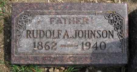 JOHNSON, RUDOLF A - Moody County, South Dakota   RUDOLF A JOHNSON - South Dakota Gravestone Photos