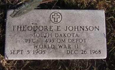 JOHNSON, THEODORE E - Moody County, South Dakota | THEODORE E JOHNSON - South Dakota Gravestone Photos