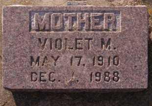 JOHNSON, VIOLET M - Moody County, South Dakota   VIOLET M JOHNSON - South Dakota Gravestone Photos