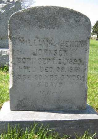 JOHNSON, WILLIAM HENRY - Moody County, South Dakota   WILLIAM HENRY JOHNSON - South Dakota Gravestone Photos