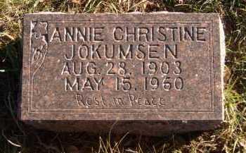 JOKUMSEN, ANNIE CHRISTINE - Moody County, South Dakota | ANNIE CHRISTINE JOKUMSEN - South Dakota Gravestone Photos