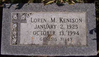 KENISON, LOREN M - Moody County, South Dakota | LOREN M KENISON - South Dakota Gravestone Photos