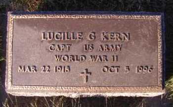 KERN, LUCILLE G - Moody County, South Dakota | LUCILLE G KERN - South Dakota Gravestone Photos