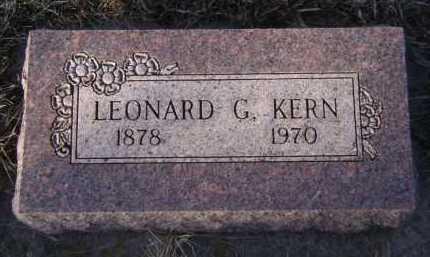 KERN, LEONARD G - Moody County, South Dakota | LEONARD G KERN - South Dakota Gravestone Photos