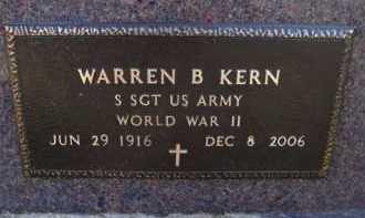 KERN, WARREN B (BACK) - Moody County, South Dakota | WARREN B (BACK) KERN - South Dakota Gravestone Photos
