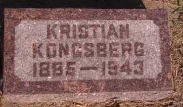 KONGSBERG, KRISTIAN - Moody County, South Dakota | KRISTIAN KONGSBERG - South Dakota Gravestone Photos