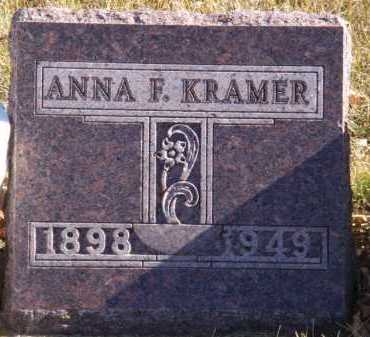 KRAMER, ANNA F - Moody County, South Dakota | ANNA F KRAMER - South Dakota Gravestone Photos
