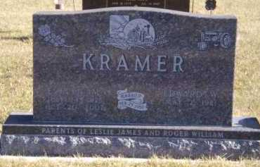 KRAMER, EDWARD W - Moody County, South Dakota | EDWARD W KRAMER - South Dakota Gravestone Photos
