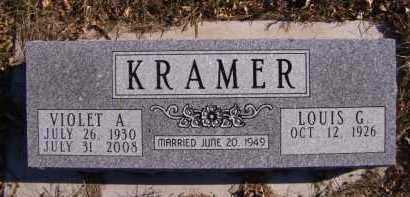 KRAMER, VIOLET A - Moody County, South Dakota   VIOLET A KRAMER - South Dakota Gravestone Photos