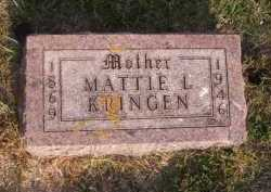 KRINGEN, MATTIE L - Moody County, South Dakota | MATTIE L KRINGEN - South Dakota Gravestone Photos
