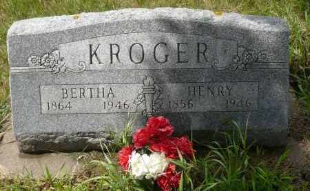 KROGER, BERTHA - Moody County, South Dakota   BERTHA KROGER - South Dakota Gravestone Photos