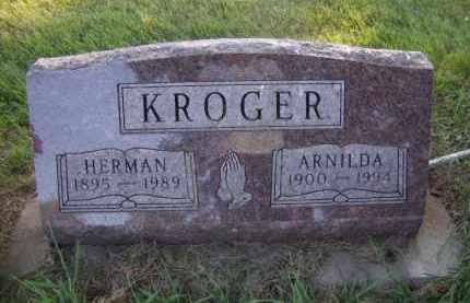 KROGER, ARNILDA - Moody County, South Dakota   ARNILDA KROGER - South Dakota Gravestone Photos