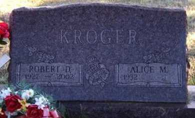 KROGER, ALICE M - Moody County, South Dakota | ALICE M KROGER - South Dakota Gravestone Photos