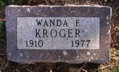 KROGER, WANDA F - Moody County, South Dakota | WANDA F KROGER - South Dakota Gravestone Photos