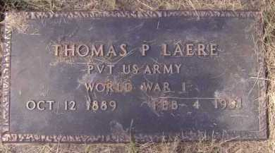 LAERE, THOMAS P - Moody County, South Dakota | THOMAS P LAERE - South Dakota Gravestone Photos