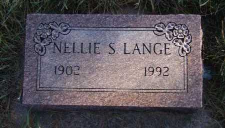 LANGE, NELLIE S - Moody County, South Dakota   NELLIE S LANGE - South Dakota Gravestone Photos