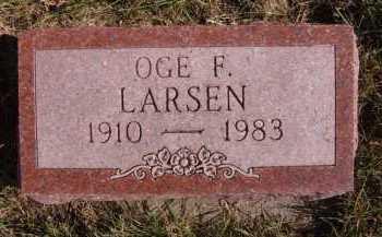LARSEN, OGE F - Moody County, South Dakota | OGE F LARSEN - South Dakota Gravestone Photos