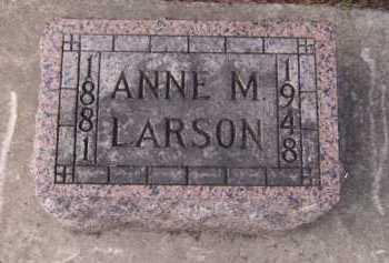 LARSON, ANNE M - Moody County, South Dakota   ANNE M LARSON - South Dakota Gravestone Photos