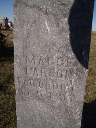 LARSON, MAGGE E (CLOSEUP) - Moody County, South Dakota   MAGGE E (CLOSEUP) LARSON - South Dakota Gravestone Photos