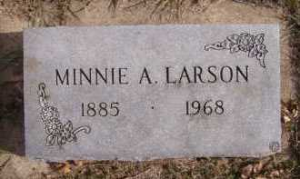 LARSON, MINNIE A - Moody County, South Dakota | MINNIE A LARSON - South Dakota Gravestone Photos