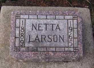 LARSON, NETTA - Moody County, South Dakota | NETTA LARSON - South Dakota Gravestone Photos