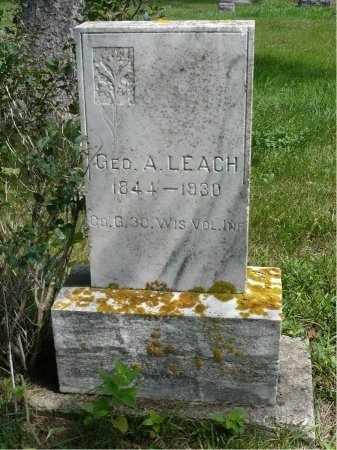 LEACH, GEORGE  ALONZO - Moody County, South Dakota | GEORGE  ALONZO LEACH - South Dakota Gravestone Photos