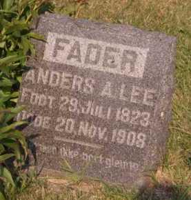 LEE, ANDERS A - Moody County, South Dakota   ANDERS A LEE - South Dakota Gravestone Photos